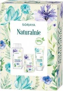 Soraya Zestaw prezentowy Naturalnie (żel do mycia twarzy 150ml+płyn mic.400ml+maska)