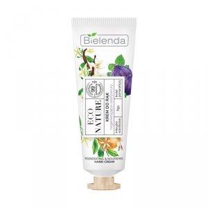 Bielenda Eco Nature Krem do rąk regenerująco-odżywczy - Mleczko Waniliowe & Figa & Kwiat Pomarańczy 50ml