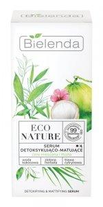 Bielenda Eco Nature Serum do twarzy detoksykująco-matujące - Woda Kokosowa & Zielona Herbata & Trawa Cytrynowa 30ml