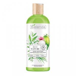 Bielenda Eco Nature Woda micelarna detoksykująco-matująca - Woda Kokosowa & Zielona Herbata & Trawa Cytrynowa 500ml