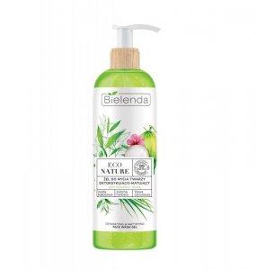 Bielenda Eco Nature Żel do mycia twarzy detoksykująco-matujący - Woda Kokosowa & Zielona Herbata & Trawa Cytrynowa 200g