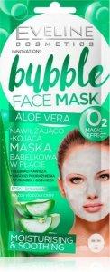 Eveline Bubble Face Maska bąbelkowa w płacie nawilżająco-kojąca Aloe Vera 1szt