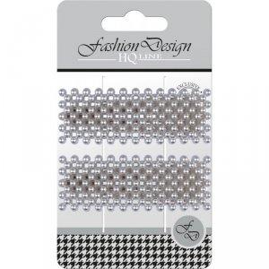 Top Choice Fashion Design Spinki typu Pyk perła srebrna (23842)  1op.-2szt