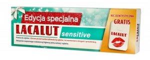 Lacalut Pasta do zębów Sensitive 75ml + nić dentystyczna