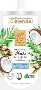 Bielenda 100% Pure Vegan Wegańska Maska do włosów zniszczonych 125ml