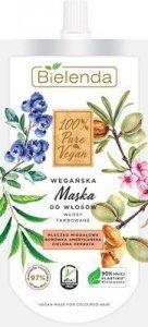 Bielenda 100% Pure Vegan Wegańska Maska do włosów farbowanych  125ml