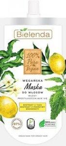 Bielenda 100% Pure Vegan Wegańska Maska do włosów przetłuszczających się 125ml