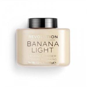 Makeup Revolution, sypki puder Loose Baking Powder Banana (Light), 32 g