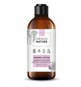 Favorite Nature Szampon do włosów suchych i puszących się - Moringa i Rycyna 400ml