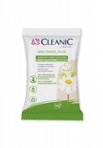 Cleanic Mini Travel Pack Nawilżany Papier toaletowy - wersja podróżna  1op.-14szt
