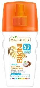 Bielenda Bikini Lekkie Mleczko kokosowe do opalania w sprayu SPF50  150ml