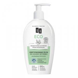 AA Eco Certyfikowany Płyn do higieny intymnej - bioaktywna ochrona przeciwzapalna  300ml