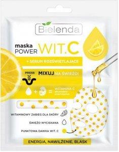 Bielenda Power Vit.C Maska w płacie + Serum rozświetlające Cytryna  22ml