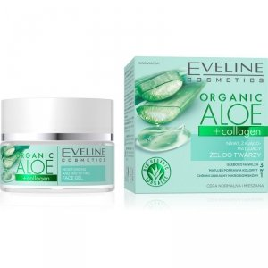 Eveline Organic Aloe Nawilżająco - Matujący Żel do twarzy 3w1 - cera normalna i mieszana 50ml