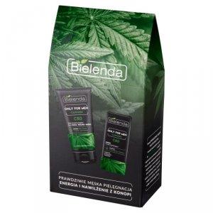 Bielenda Zestaw prezentowy Only for Men Cannabis (krem do twarzy nawilżający 50ml+pasta do twarzy 3w1 150g)