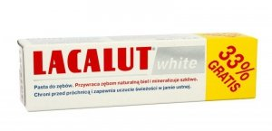LABOVITAL .LACALUT pasta 75ml WHITE+33%gratis&