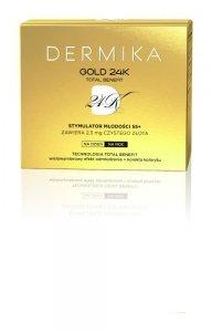Dermika Gold 24k Total Benefit 55+ Krem-stymulator młodości na dzień i noc  50ml