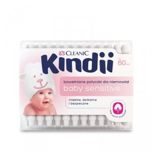 Kindii Baby Sensitive Patyczki do uszu 60 szt.