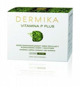 Dermika Vitamina P Plus Krem przeciwzmarszczkowy półtłusty na dzień i noc  50ml