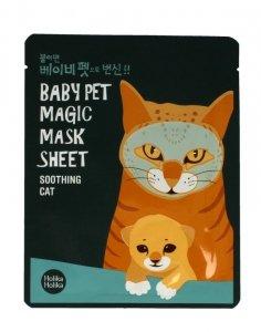 Holika Holika Baby Pet Magic Mask Sheet Maska w płacie Soothing Cat  1szt