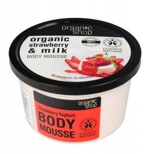 Organic Shop Mus do ciała Truskawki & Mleko  250ml