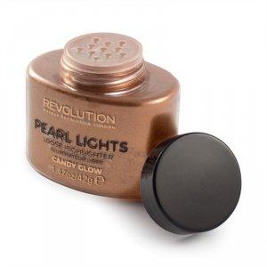 Makeup Revolution Pearl Lights Loose Highlighter Puder sypki rozświetlający Candy Glow  25g