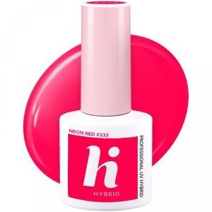 Hi Hybrid Lakier hybrydowy nr 233 Neon Red  5ml