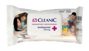 Cleanic Chusteczki odświeżające Antibacterial Family 1op.-60szt