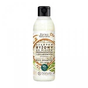 BARWA Naturalna Szampon do włosów Ryżowy odmładzający - włosy przesuszone i osłabione  300ml