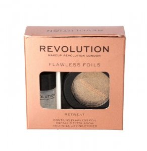 Makeup Revolution Flawless Foils Cień do powiek metaliczny+baza Retreat  1op.