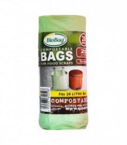 BioBag Worki na odpady 10 l biodegradowalne 25 szt