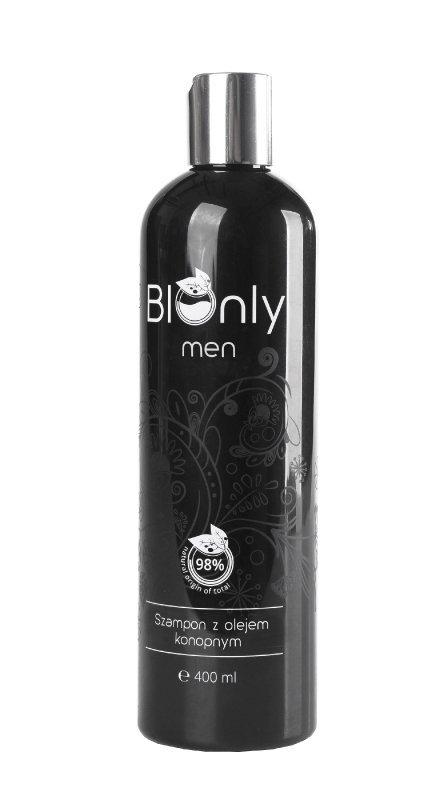 BIOnly Men Szampon z olejem konopnym 400ml