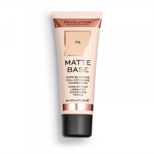 Makeup Revolution Podkład matujący do twarzy Matte Base Foundation F6  28 ml
