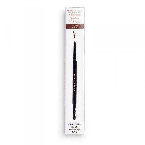Makeup Revolution Precise Brow Pencil Dwustronna kredka do brwi Medium Brown  1szt