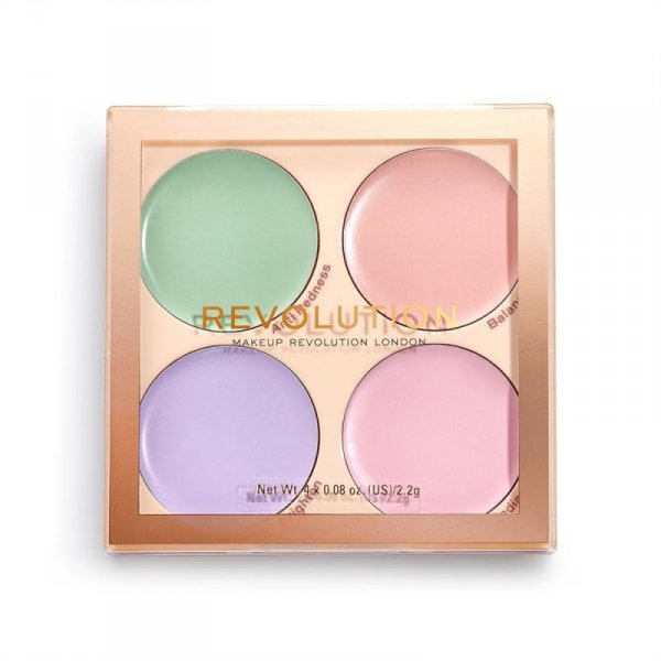 Makeup Revolution Paleta kolorowych korektorów Matte Base Correcor Kit