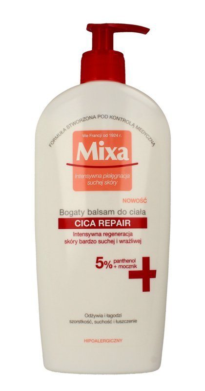 Mixa Bogaty Balsam do ciała Cica Repair - skóra bardzo sucha i wrażliwa 400ml
