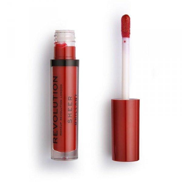 Makeup Revolution Ruby 134 Pomadka do ust w płynie Sheer Brillant  1szt