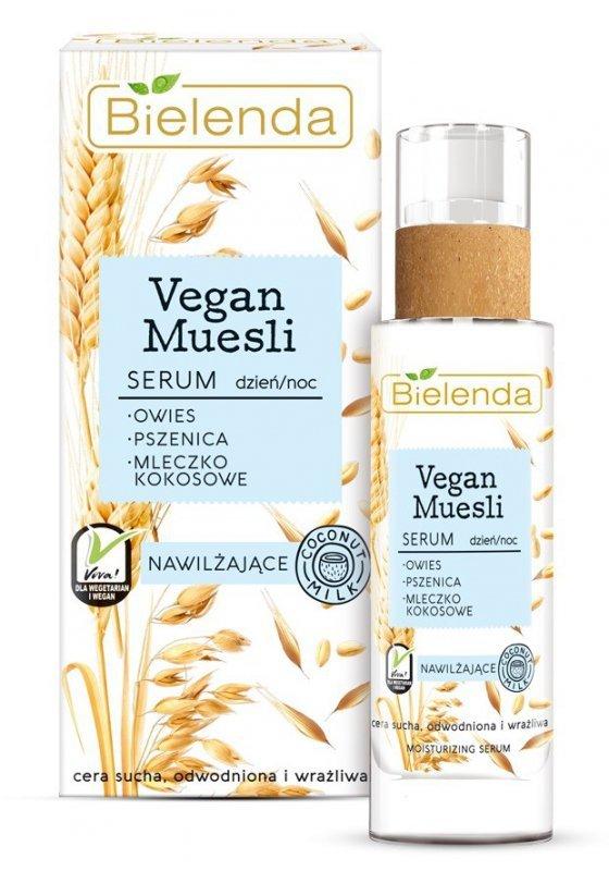 Bielenda Vegan Muesli Serum nawilżające na dzień i noc - cera sucha,odwodniona,wrażliwa 30ml