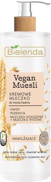 Bielenda Vegan Muesli Kremowe Mleczko nawilżające do mycia twarzy - cera każdego rodzaju 175g