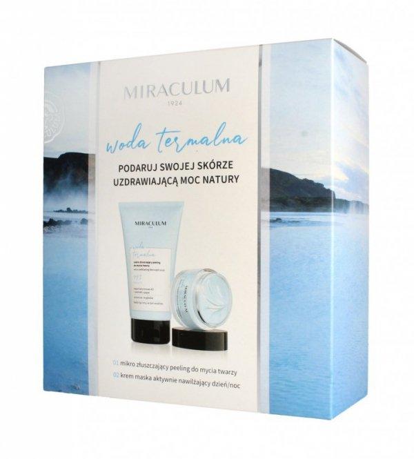 Miraculum Zestaw prezentowy Woda Termalna (Krem-maska 50ml+peeling do twarzy 150ml)