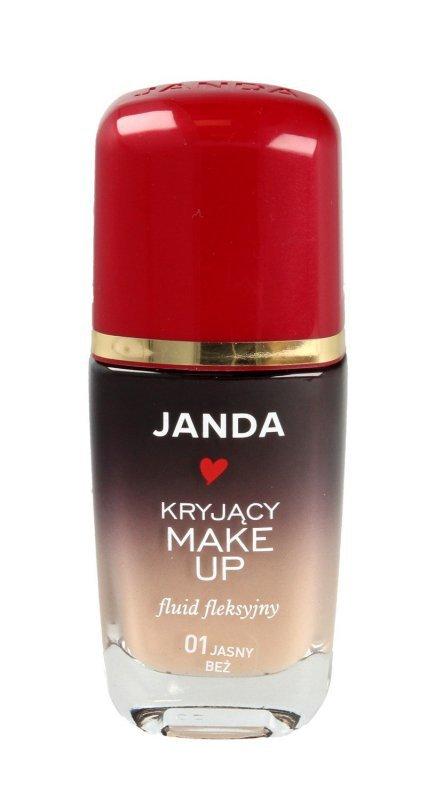 JANDA Make-up kryjący - fluid fleksyjny nr 01 jasny beż  30ml