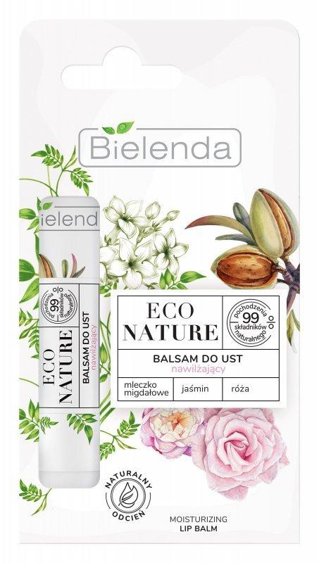 Bielenda Eco Nature Balsam do ust nawilżający z mleczkiem migdałowym - Jaśmin i Róża  10g
