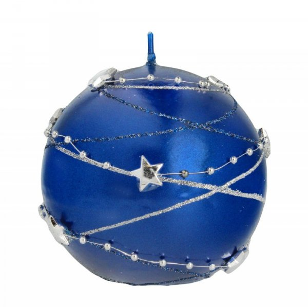 ARTMAN Boże Narodzenie Świeca ozdobna Girlanda granatowa - kula mała 1szt