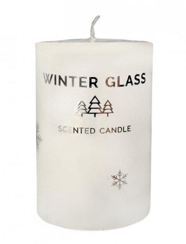 ARTMAN Boże Narodzenie Świeca zapachowa Winter Glass biała - walec mały 1szt