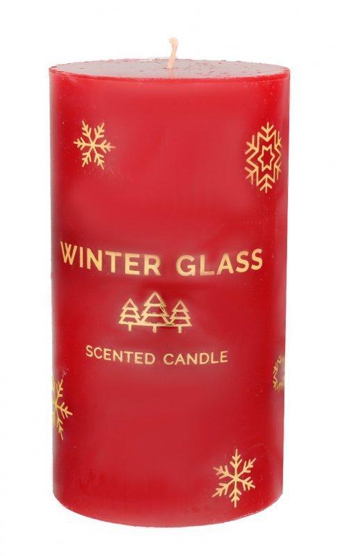 ARTMAN Boże Narodzenie Świeca zapachowa Winter Glass czerwona - walec średni 1szt