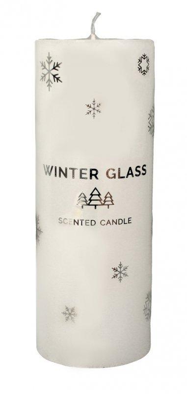 ARTMAN Boże Narodzenie Świeca zapachowa Winter Glass biała - walec duży 1szt