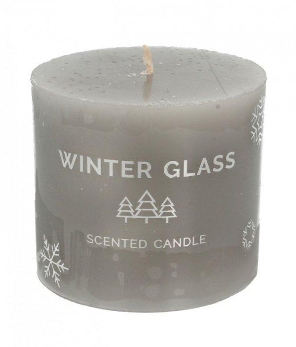 ARTMAN Boże Narodzenie Świeca zapachowa Winter Glass szara - walec mały 1szt