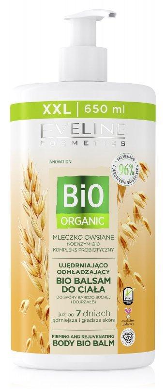Eveline Bio Organic Balsam do ciała ujędrniająco odmładzający - Mleczko Owsiane  650ml