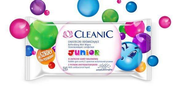 Cleanic Chusteczki odświeżające Junior  1 op.-15szt