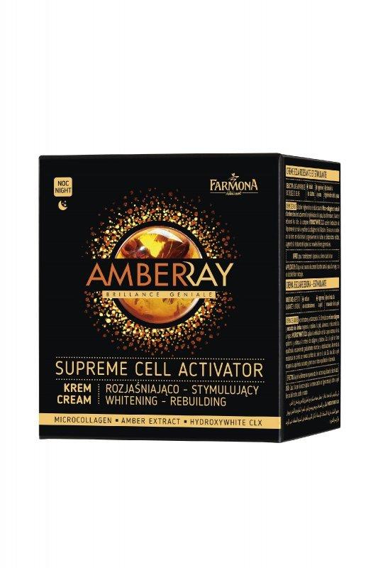 Farmona Amberray Krem rozjaśniająco-stymulujący na noc  50ml